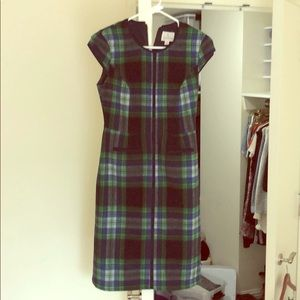 Plaid fitted sheath dress - Size 0